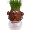 Novelty growing grass head Wholesale growing grass hair doll , handmade growing grass head dolls