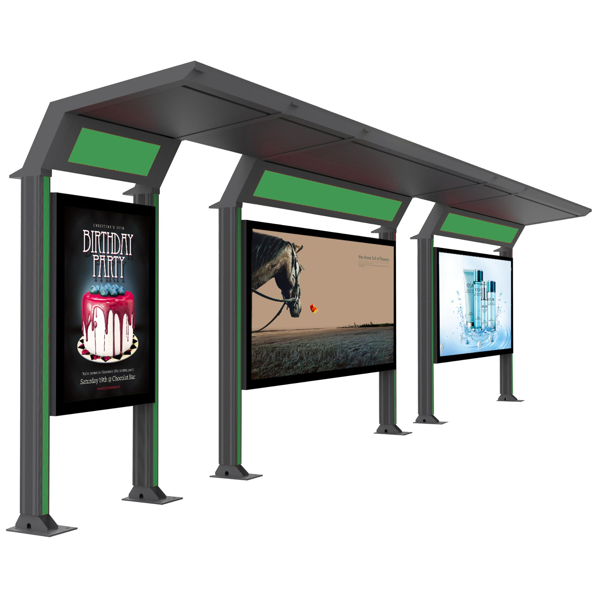 product-YEROO-City public modern Stainless steel structure bus stop shelter design-img-4