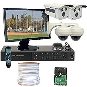 GW Security VD4CHH4 4 CH HD-SDI DVR 4 x Professional 1/3-Inch 2.1 Megapixel CMOS Camera, Progressive Scan, 1080P Video Output