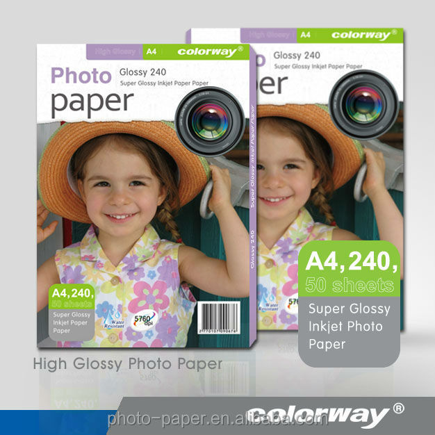 240g A4 Size Colorway Advanced Glossy Photo Paper