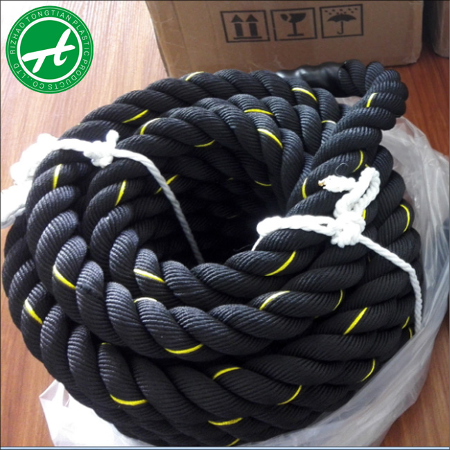 Factory price black color gym crossfit boxing ring ropes made in china