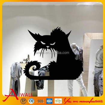Halloween Black Cat Wall Stickers For Quotes Custom Children - Custom vinyl wall decals cats
