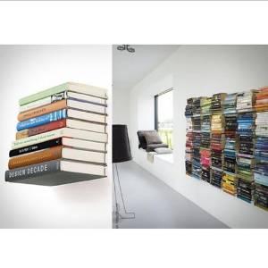BoatShop Wall Mounted Floating Bracket Conceal Invisible Bookshelf
