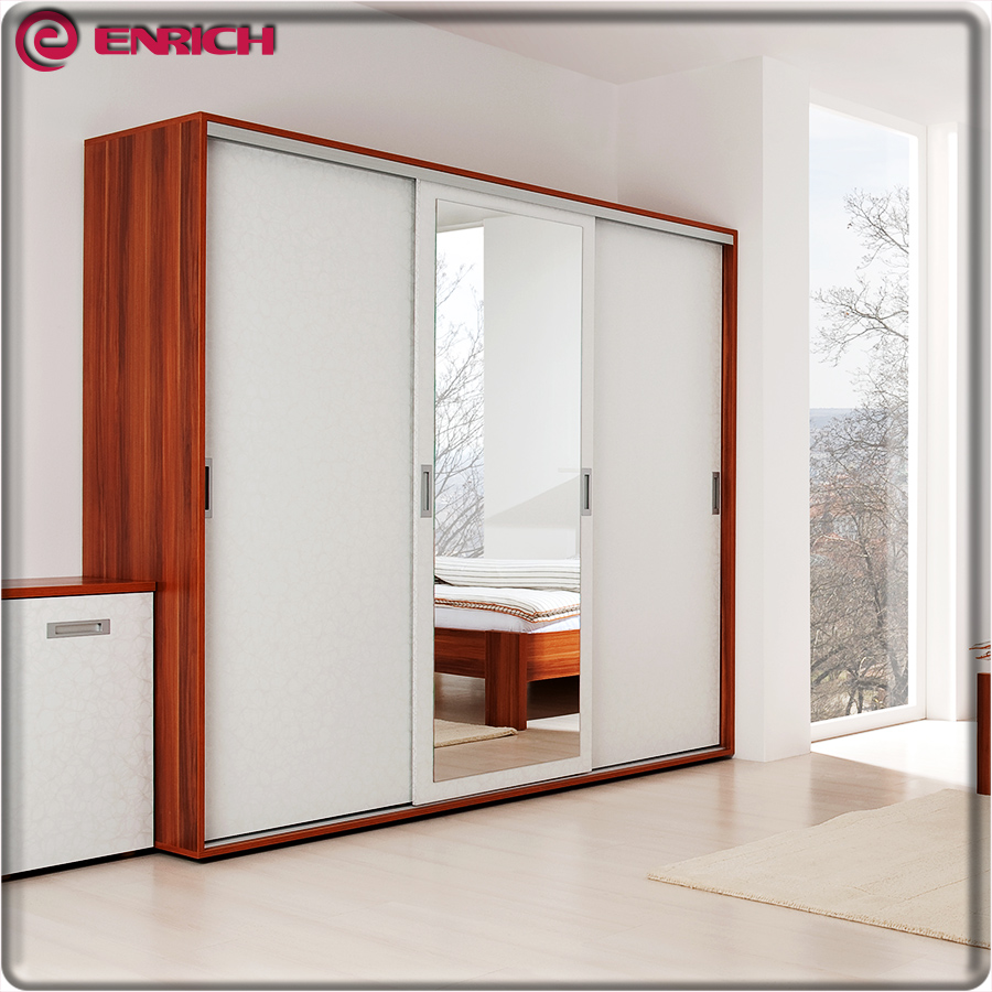 Modern Style 3 Door Wooden Home Almirah Designs In Bedroom Wall ...