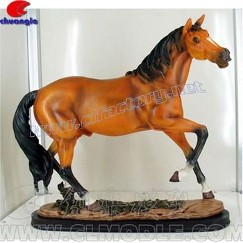 Animal Horse Statue Polyresin Handicraft Home Decoration