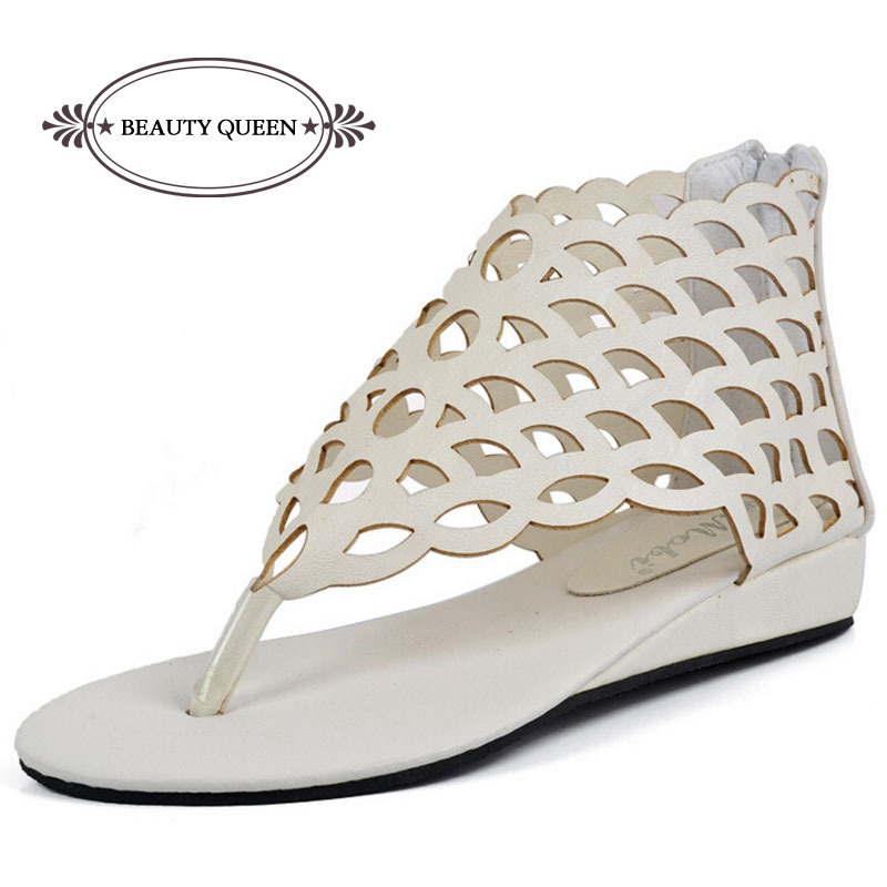 2015 Fashion Women's Shoes Gladiator Flats Open-toe Thong Sandals Gladiator Sandals Women Casual Shoes Plus Size 40
