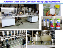 automatic sauce bottle filling capping machine