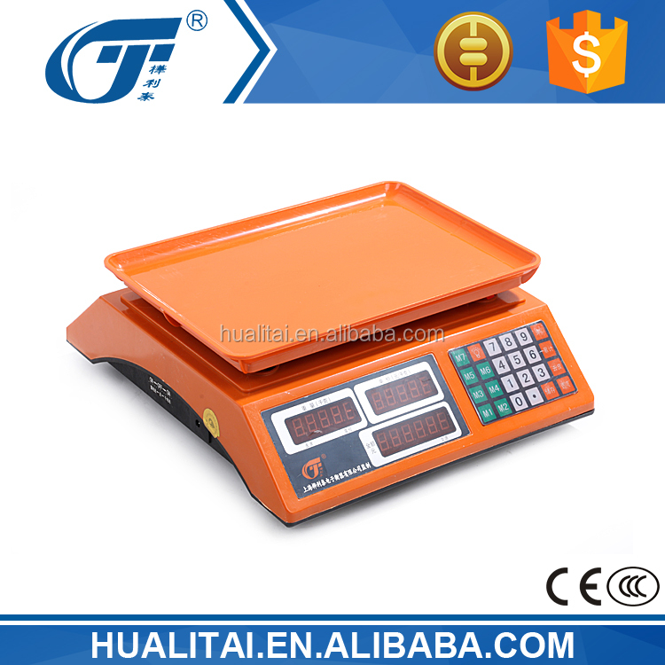 30kg table top weighing scale with double button