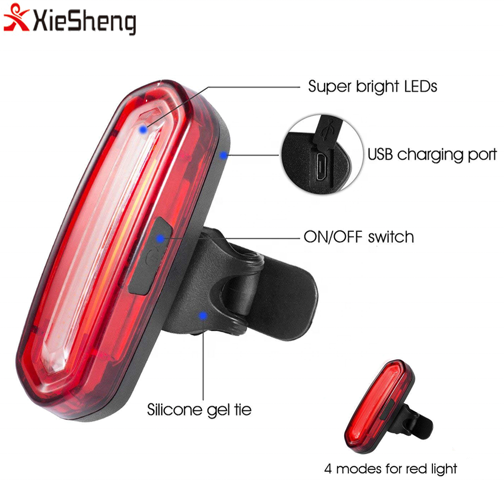 Bike Taillight Bicycle Rear Light Waterproof MTB LED USB-Rechargeable Lamp Light