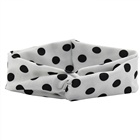 Beautiful Wave Point Cross Elastic Soft Baby Headband Handmade Solid Color Hairband Wholesale Hair Accessories For Kids