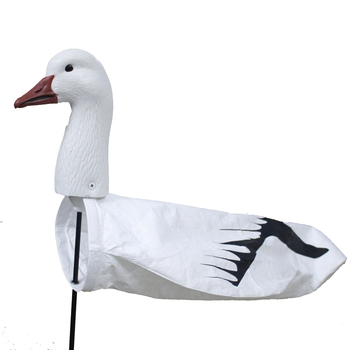 NEW White Hunting Goose Decoys Soft EVA Snow Goose Windsock Flapping Tyvek Body Set for hunting