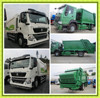 High Capacity of HOWO 4x4 Compactor Garbage Truck 12m3 Rear Loader Compression Garbage Vehicle for sale