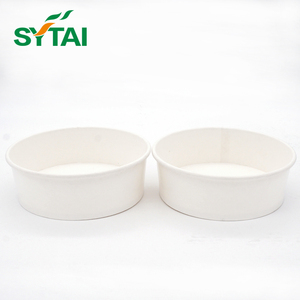 Custom Printed disposable hot soup bowl with lid, PE coated paper or kraft paper