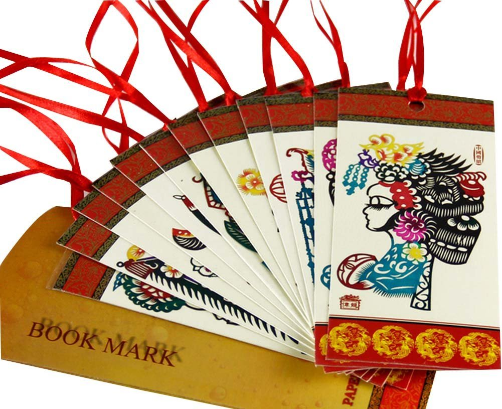 Bookmarks Peking Opera Color Paper Cutting Bookmarks Paper-cut Bookmark