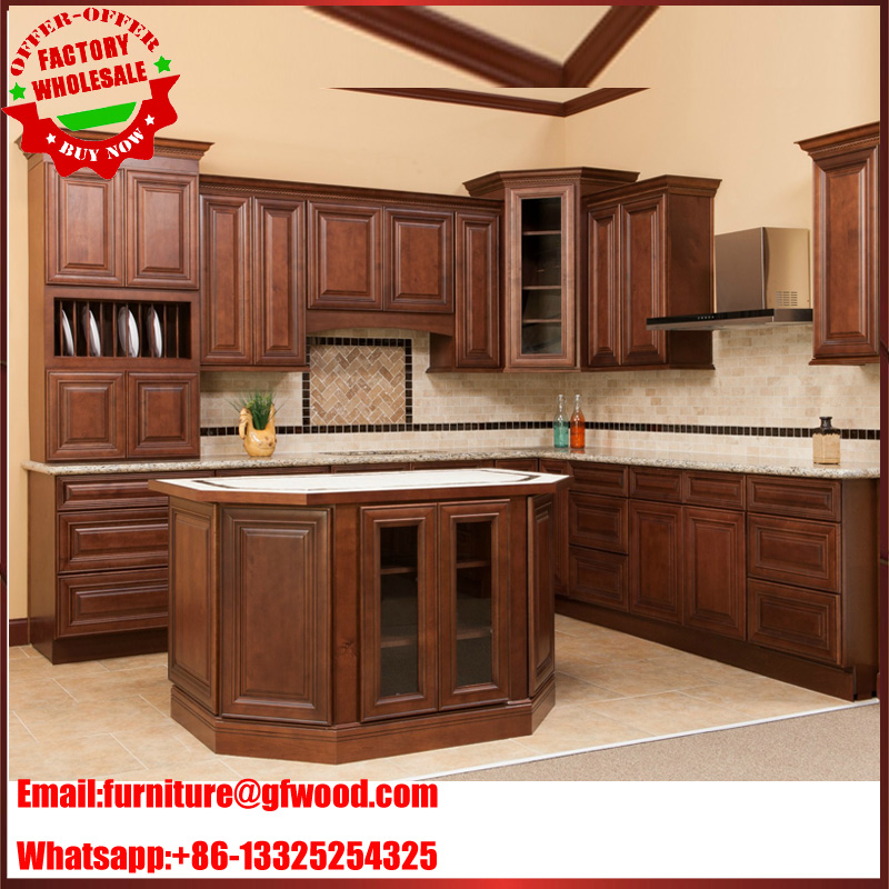 2017 hot sale best price commercial American standard solid wood kitchen cabinet