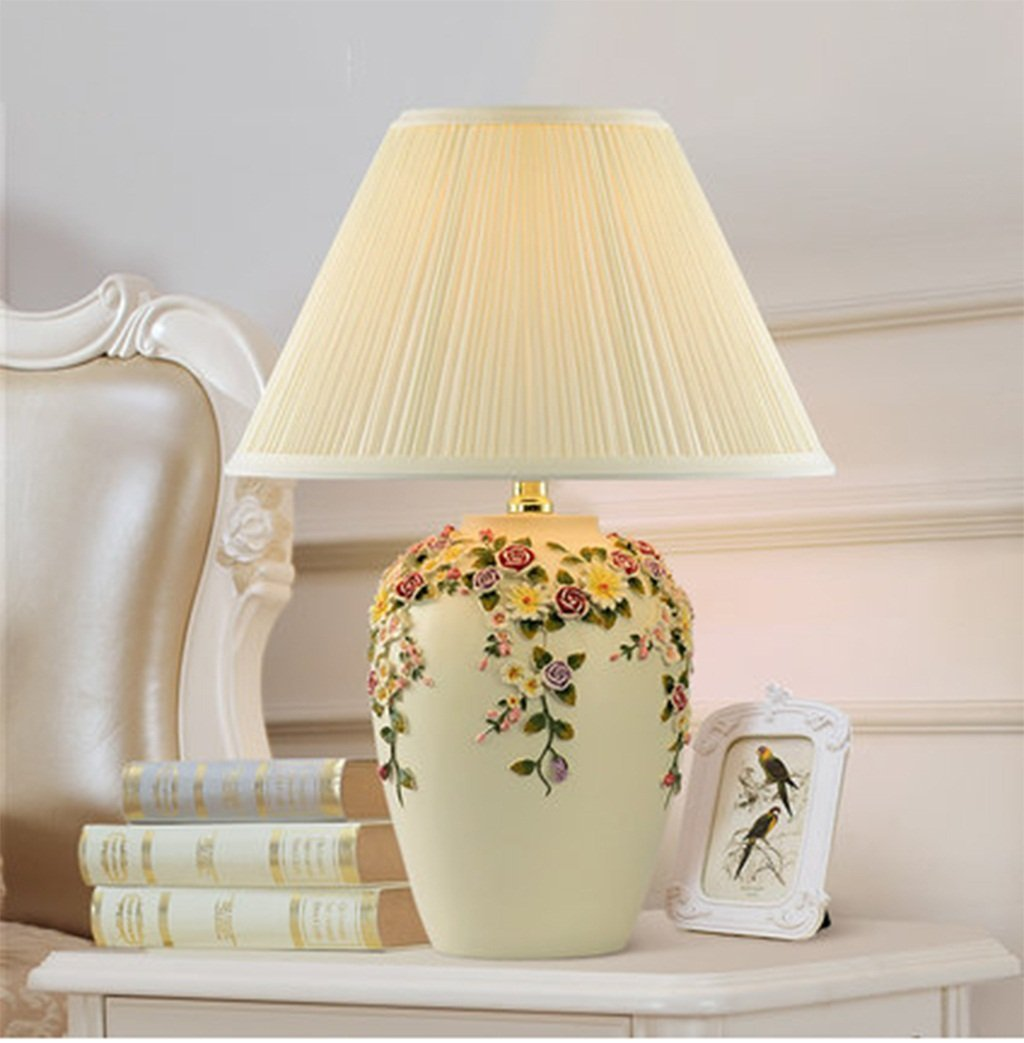 WENBO HOME- European table lamp bedroom bedside lamp wedding table lamp decoration luxury warm and creative fashion garden lamps -Desktop lamp