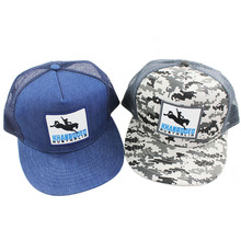Wholesale fashion camo trucker hat and cap with embroidery patch