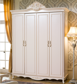 4 Doors Wardrobe Big Chest Cabinet With Drawers Luxury Bedroom Furniture