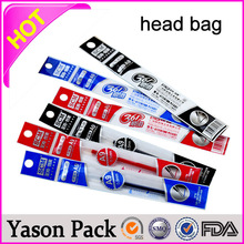 YASON plastic stand up bags with hang hole euro header opp header pouchs with transparent side seal laminated header plastic myl