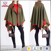 New arrive fashion comfortable contrast stripe wool ladies girls cape