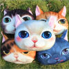 2015 new arrivel 3D printed cat head pillow decor plush pillow home store sofa cushion decor