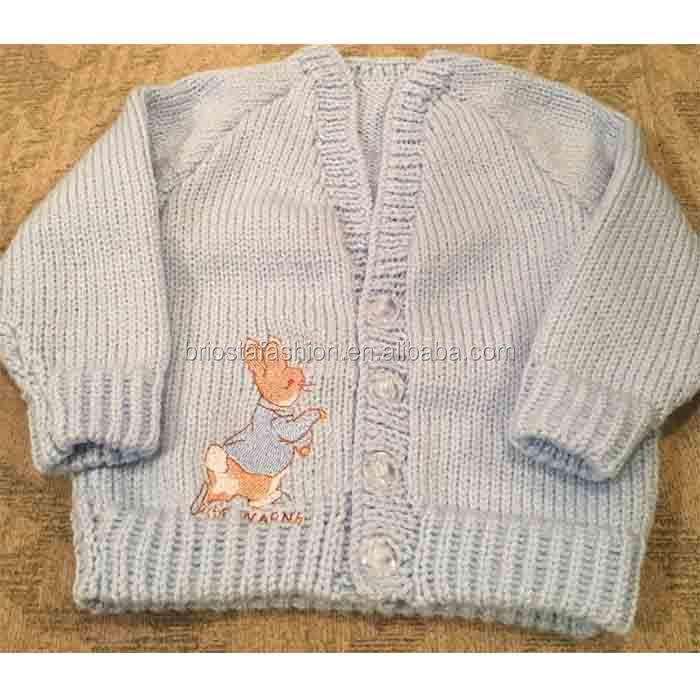 New Arrival Embroidery Rabbit Knitted Cardigan