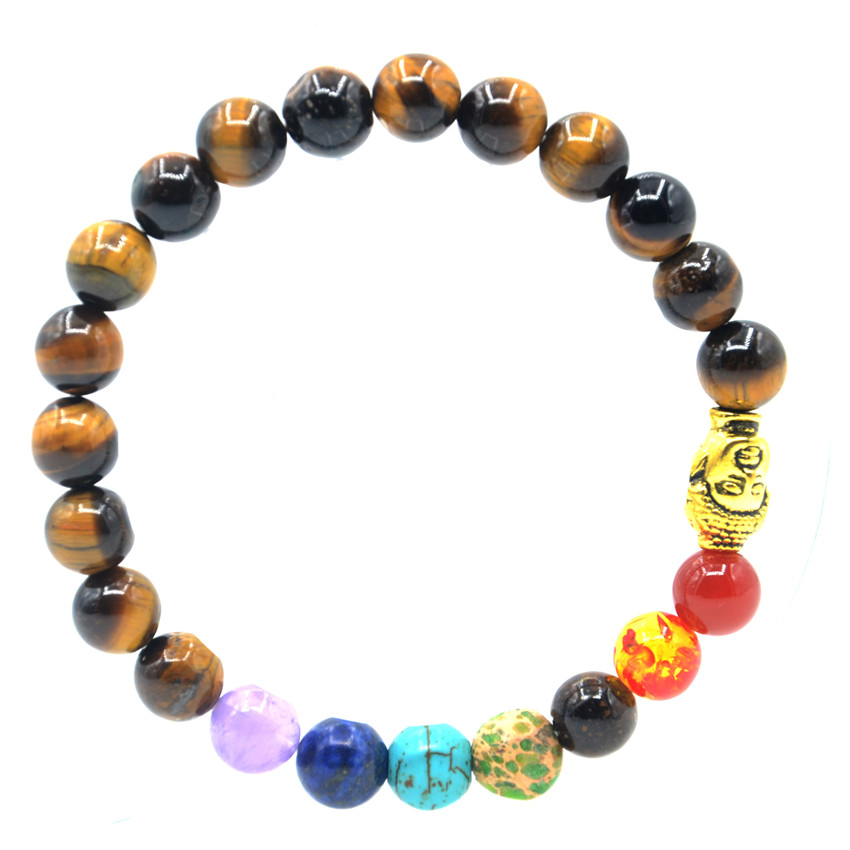 MECYLIFE Natural Volcanic Stone Lava Beads Bracelet Alloy Lion Head Bracelet