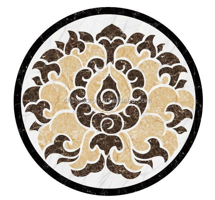 Western Inlay Floor Tile Circular Design : New design marble tile round mosaic medallion floor