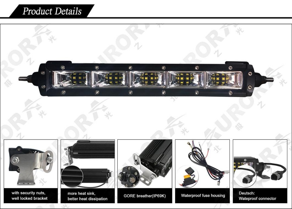 New 50W Aurora 3000k Scene light bar for farming and industrial usage