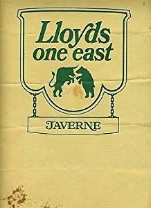 Lloyd's One East Taverne Menu Provident Tower Cincinnati Ohio 1970's