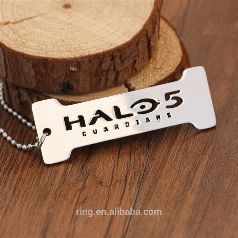 Halo 5 Stainless Steel Necklace Letters Silver Game Necklace Jewelry for Men