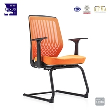 Modern style soft pad cheap visitor reception office mesh chair with PP armrest