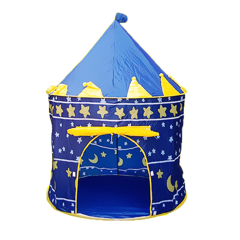 Children Play Tent Boys Girls Prince House Indoor Outdoor Blue Foldable Tent with Case