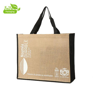 Bamboo Handle Jute Bag jute bags usa