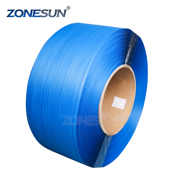 ZONESUN Blue plastic manual packing strap pp strapping roll in strapping in the dispenser box supply