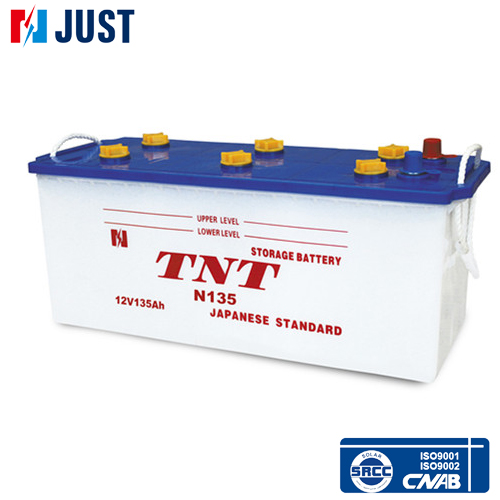 Top quality N135 135ah 12v heavy duty truck battery