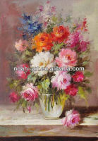 Cheap Art Supplies Contemporary Decoration Flower Oil Painting