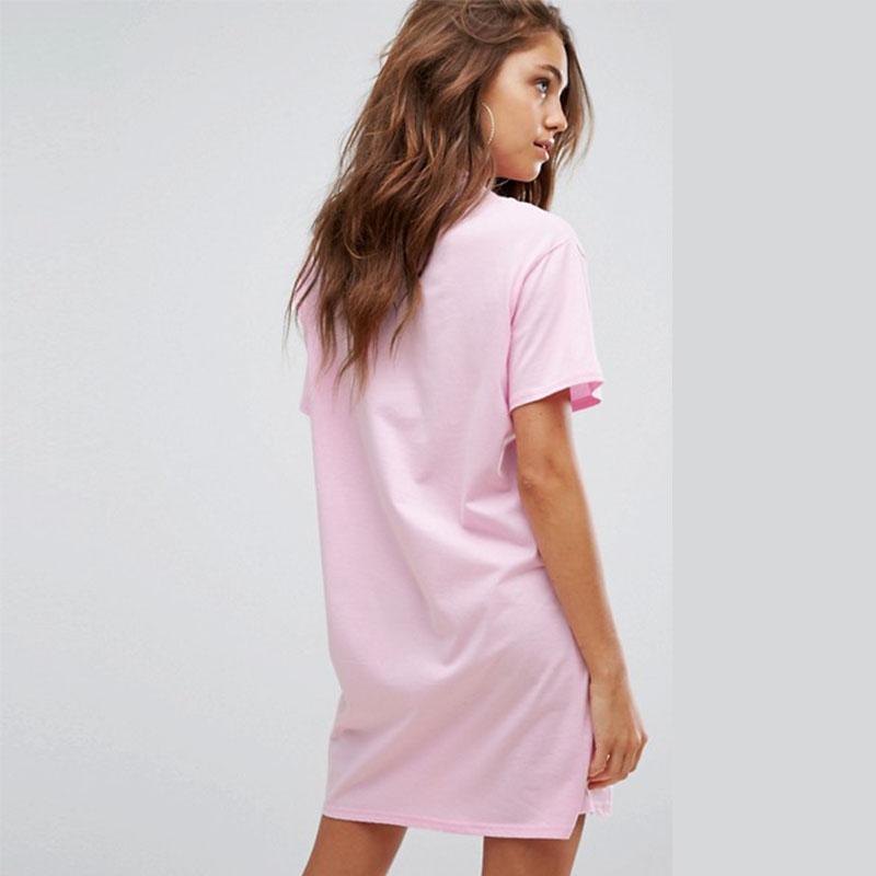 a5f838656eaf 2017 new Cheap Price Sexy Girls Fashion Slogan print T-Shirt Dress Wholesale