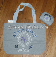 recyclable 100% cotton handle shopping bag