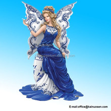 Resin Figurine: Magical Blessing Of Two Lovers Blue Willow Artwork Figurine