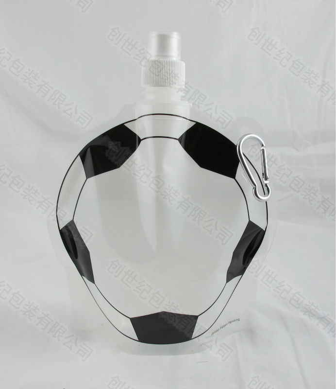 football design foldable water bottle/plastic water bottle