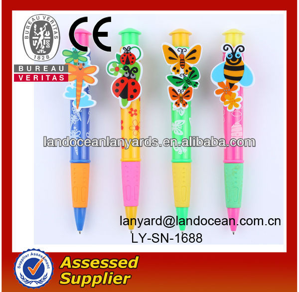 Animal plastic ballpoint pen for school