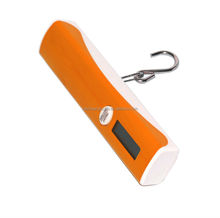 Orange color 40kg Hook Weigher Electronic travel portable luggage weighing scale