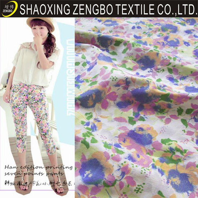 2014 new desigh floral fabric floral print cotton fabrics