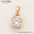 34916 Xping simple design 18k gold single stone fashion jewelry pendant