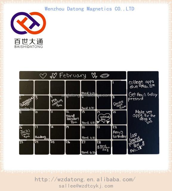 Home Decor Flexible Magnet Calendar Whiteboard With Dry Erase Pen - Buy  Flexible Magnet Calendar Whiteboard,Magnetic Refrigerator Paper Meno  Calendar