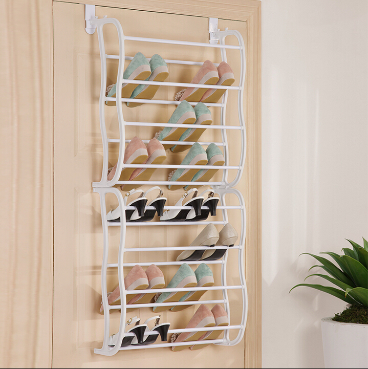 24 Pair Over Door Shoe Rack 8 Layers To Hanger On Door(FH FH
