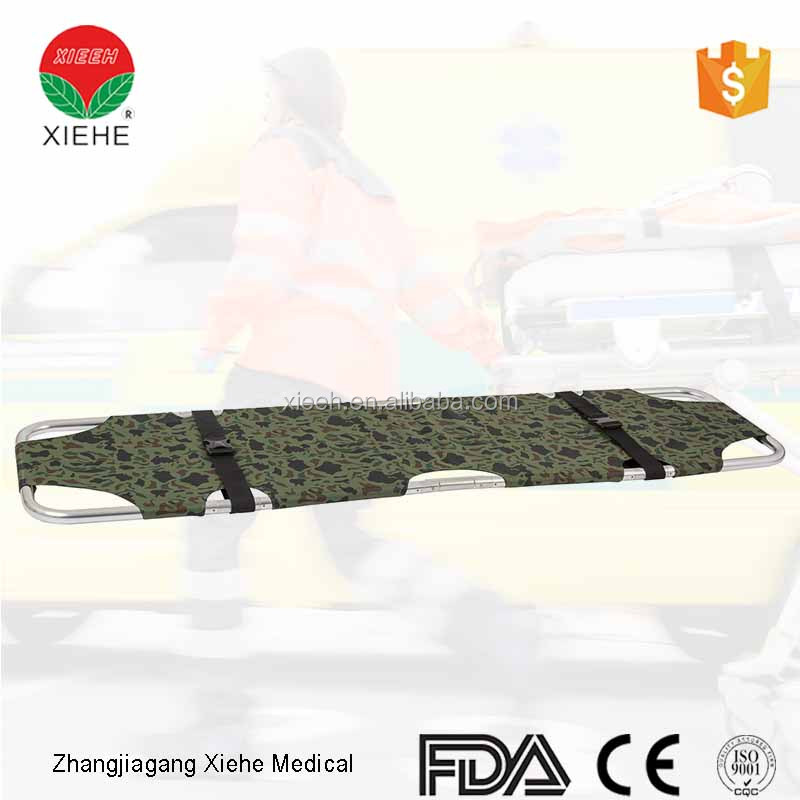 Aluminum alloy multifunctional folding emergency stretcher in hospital