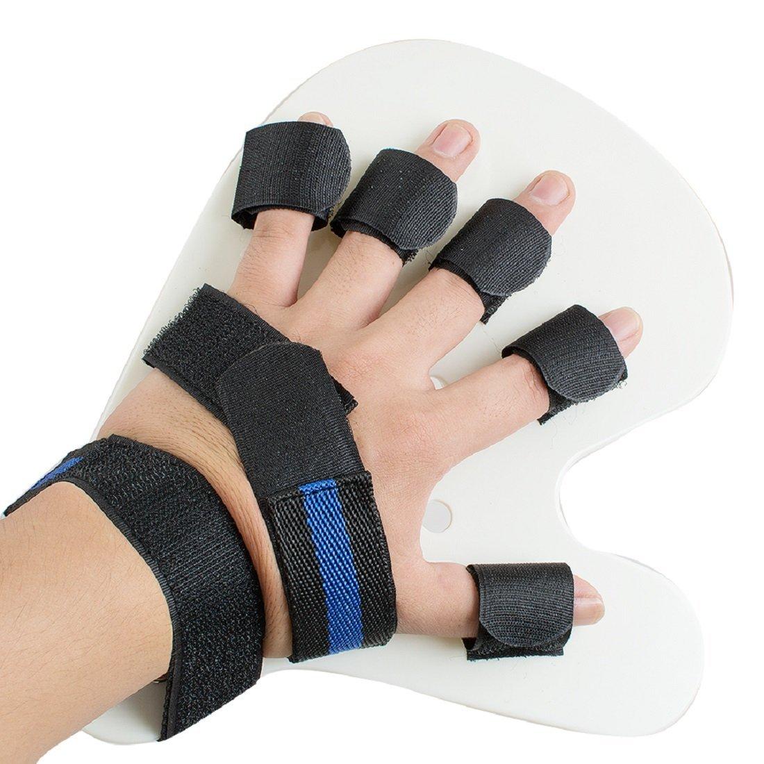 Tinsay 1 Finger Orthotics Points Fingerboard Stroke Hemiplegia Finger Splint Training Rehabilitation Training Equipment Finger Trainer Left Hand (S)