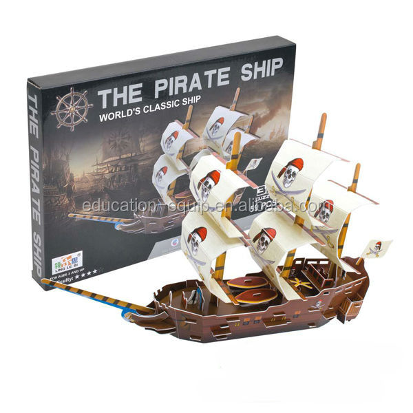 Tipo SE91163 La Nave Pirata 3D Educativi Puzzle Game